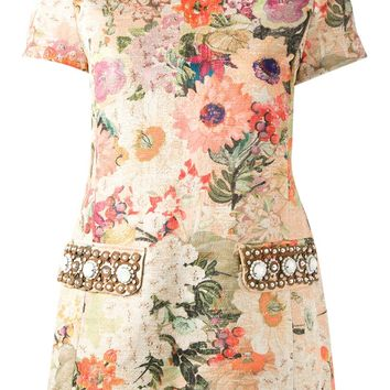Tory Burch Floral Tweed Top