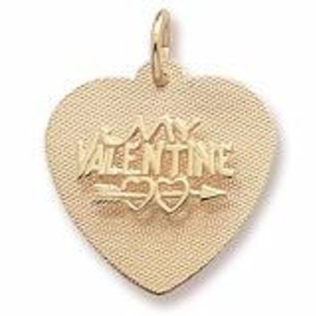 Be My Valentine Charm in Yellow Gold Plated
