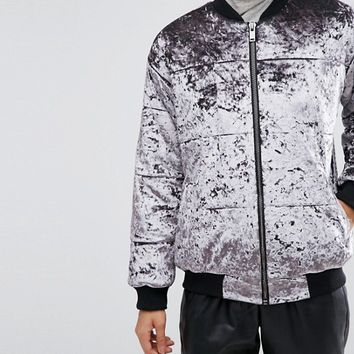 ASOS Padded Jacket in Velvet at asos.com