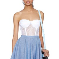 Nasty Gal Julia Chambray Skater Skirt