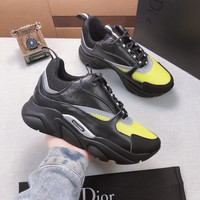 Dior Black/grayFashion Casual Sneakers Sport Shoes Size 36-45