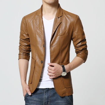 Slim Suede leather jacket for men