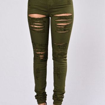 MDIGON1O Day First Roll Out Jeans - Olive