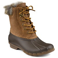 Women's White Water Duck Boot in Brown by Sperry - FINAL SALE