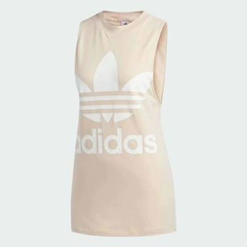 """Adidas"" Women All-match Casual Pattern Letter Sleeveless T-shirt"