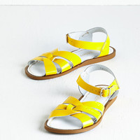Nautical Salt Water Sandal in Yellow