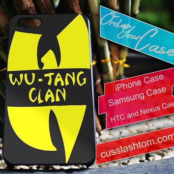 Exclusive Wu-tang clan iPhone for 4 5 5c 6 Plus Case, Samsung Galaxy for S3 S4 S5 Note 3 4 Case, iPod for 4 5 Case, HtC One M7 M8