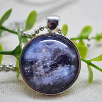 starry sky galaxy necklace,pendant necklace