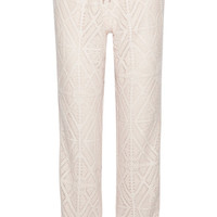 See by Chloé - Pointelle-knit tapered pants