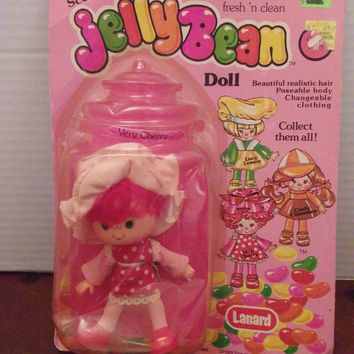vintage 1980's strawberry shortcake knock off jellybean doll very cherry