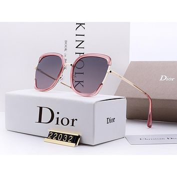 DIOR hot sale stitching large frame sunglasses fashion casual sunglasses for women