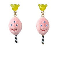 N2 by Les Néréides CANDY MONSTER COTTON CANDY EARRINGS