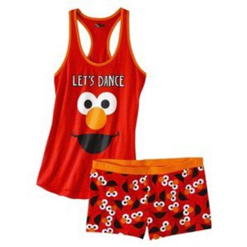 Sesame Street® Junior's Tank & Short Sleep Set - Elmo