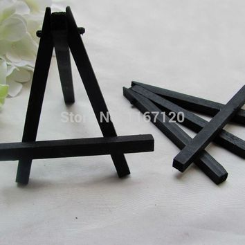 6Pcs Mini Black Display Miniature Easel Wedding Table Number Place Name Card Stand 11*10cm