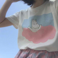 Moomin on Clouds Tee from MILK CLUB