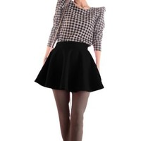 Amazon.com: Allegra K Ladies High Waist Casual Stylish Winter Mini Skirt Black XS: Clothing