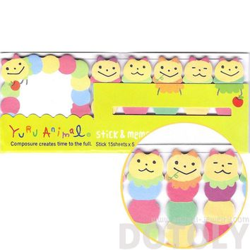 Colorful Caterpillar Insect Bug Illustrated Cute Memo Post-it Index Tab Sticky Bookmarks