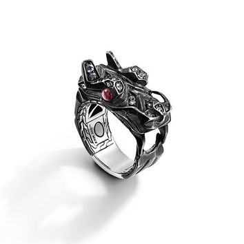 John Hardy naga collection dragon head ring