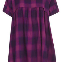 Enzyme Check Smock Dress - Dresses  - Clothing