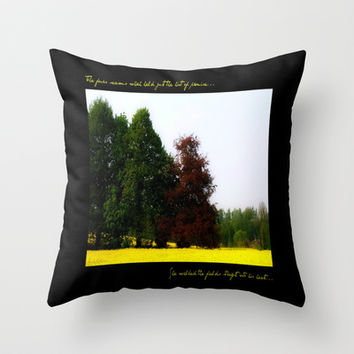 The Changing Colors Of Fall  Throw Pillow by Louisa Catharine Forsyth #society6 #gift #love