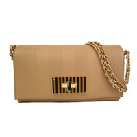 Pre-owned Fendi Claudia Leather Shoulder Bag
