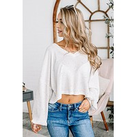Confetti Kisses Cropped Waffle Top