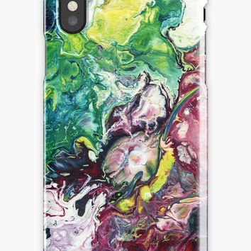'Abstract Fluid Art Painting' iPhone Case/Skin by Maria Meester