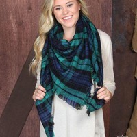 Enchanted Forest Plaid Blanket Scarf