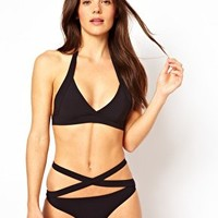 Mouille Maya Black Wrap Bikini at asos.com