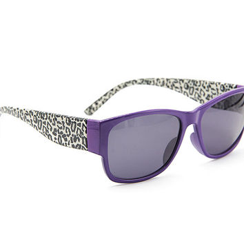 Leopard Purple Sunglasses Wayfarer Style Unique Glasses S007