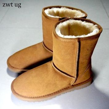 zwt ug Women's Winter Boots Australia Classic zwt ug boot High Quality Genuine Leather Warm women snow boots botas mujer bottes