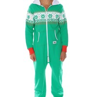 Green Christmas Jumpsuit | Tipsy Elves