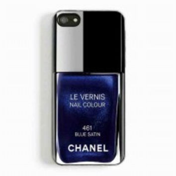 Chanel Nail Polish Blue Satin for iphone 5 and 5c case
