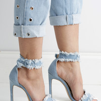 PAULA DENIM SANDAL