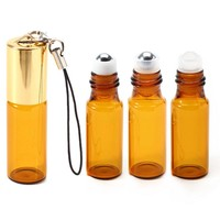 10 X 5ML Pendant Portable Essential Oil Bottle with Lobster Hook Transparent Empty Bottle