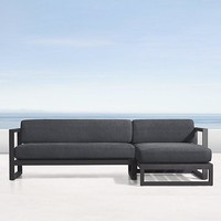 Aluminum Slate Color Right-Arm Chaise Sectional