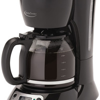 12-cup coffee maker black