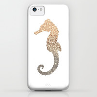 *** GATSBY GOLD SEAHORSE  *** iPhone & iPod Case by Monika Strigel for iphone 5c + 5s + 5 + 4s + 4 + 3gs + 3g + ipod touch + samsung galaxy