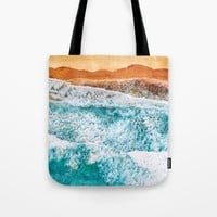 Tropical VI - Beach Waves II Tote Bag by tmarchev