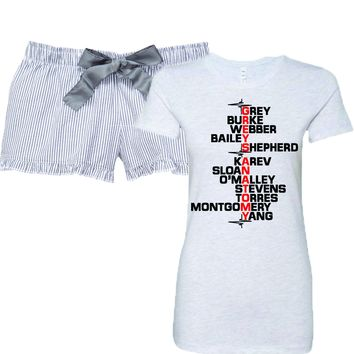 Grey's Anatomy Cast Women's Pajamas