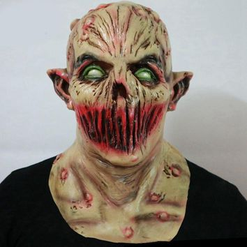 Halloween Monster Zombie Mask Scary Adult Latex Costume Party Horror Face Mask Full Head Vampire Cosplay Mask Masquerade Props