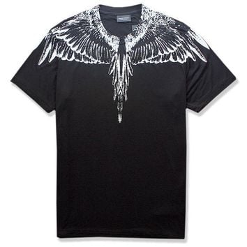 Print Men's Fashion Fashion Feather Round-neck Summer Cotton Short Sleeve T-shirts [12171399955]