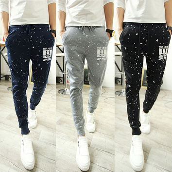 Men's Fashion Korean Print Stylish Pants Sportswear [6533773447]