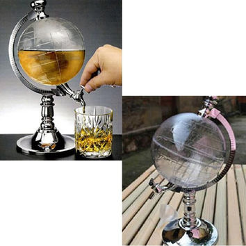 Novelty Globe Shaped Beverage Liquor Dispenser Drink Wine Beer Pump Single Canister Pump High Quality