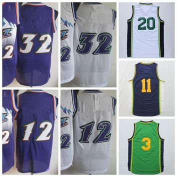 Throwback Basketball Shirt Wear Purple White #12 #32 #3 #11 #20 #27 Classical Basketball Sports Jerseys Man With Player Name Team Logo