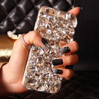 Dower Me Bling Diamond Phone Case Cover For Iphone X 8 7 6 6S Plus 5 5C 4S Samsung Galaxy Note 8 5 4 3 2 S8/7/6 Edge Plus S5/4/3