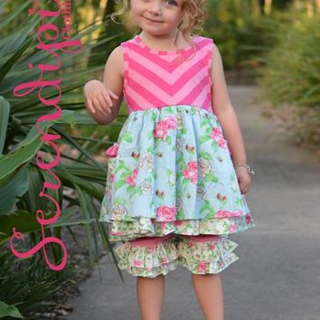 Serendipity Southern Belle Pocket Dress W/ Ruffle Shorties