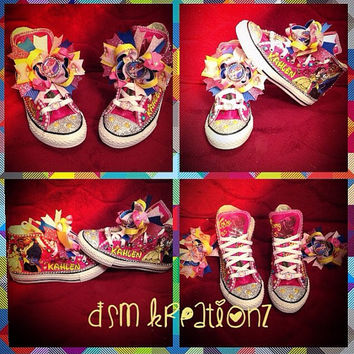 Custom Beauty & The Beast Converse Sneakers