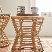 Magical Thinking Luna Rattan Side Table- Light Brown One
