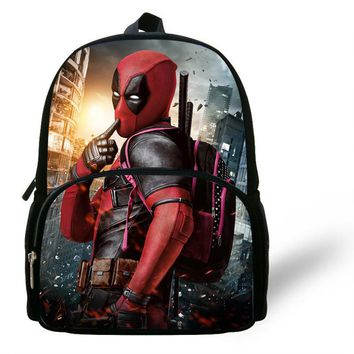 12inch Infantil Kids Bag Boys School Bags Marvel Comics Backpack Deadpool Bookbag Gift Little Girls Toddler Menino